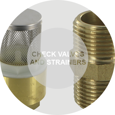 Check valves and strainers