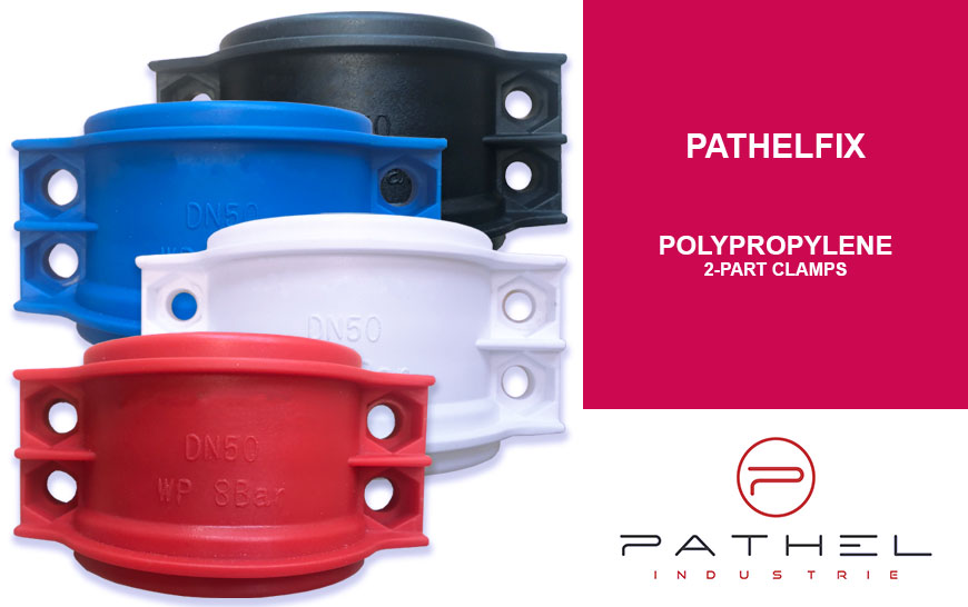 New polypropylene 2-part clamps