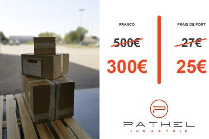 PATHEL Industrie baisse son franco et ses frais de port