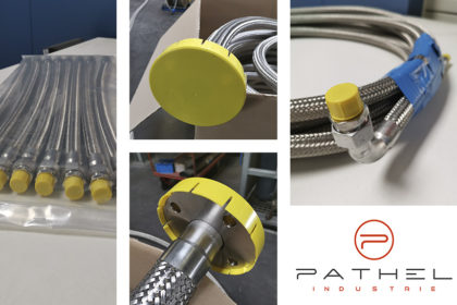 Pathel improves the packaging of these stainless corrugated steel hoses