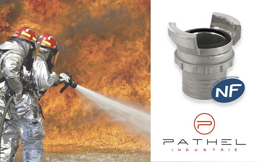 Los acoplamientos para bomberos DSP de Pathel están certificados por la AFNOR