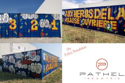Le graffeur Dalas Randalas transforme les containers Pathel